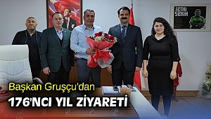 Başkan Gruşçu'dan 176'ncı yıl ziyareti