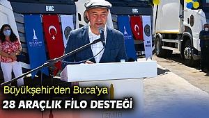 Büyükşehir'den Buca'ya 28 araçlık filo desteği