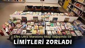 Efes Ultra Maratonu kitap bağışında da limitleri zorladı