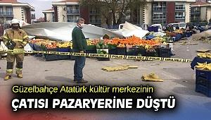 Fırtına İzmir'de çatı uçurdu! Pazaryeri birbirine girdi