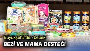 İzmir Büyükşehir'den bebek bezi ve mama desteği
