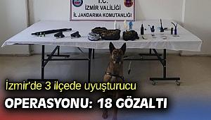 İzmir'de 3 ilçede uyuşturucu operasyonu: 18 gözaltı