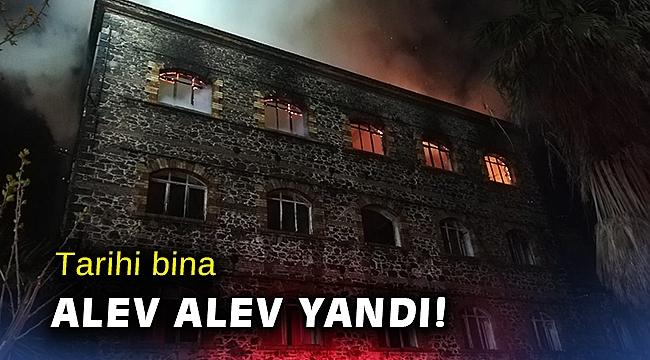 İzmir'de 4 katlı tarihi binada yangın