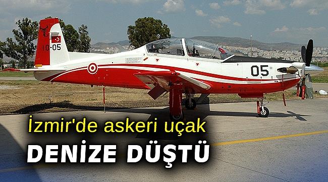 İzmir'de askeri uçak denize düştü
