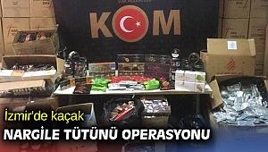 İzmir'de kaçak nargile tütünü operasyonu