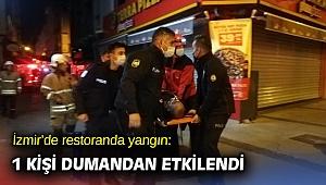 İzmir'de restoranda yangın çıktı!
