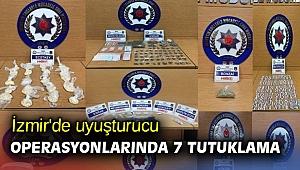İzmir'de uyuşturucu operasyonlarında 7 tutuklama