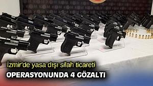 İzmir'de yasa dışı silah ticareti operasyonunda 4 gözaltı