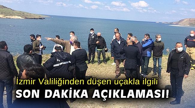 İzmir Valiliğinden düşen uçakla ilgili son dakika açıklaması!