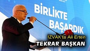 İZVAK'ta Ali Erten tekrar başkan