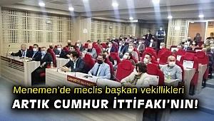 Menemen'de meclis başkan vekillikleri artık Cumhur İttifakı'nın!