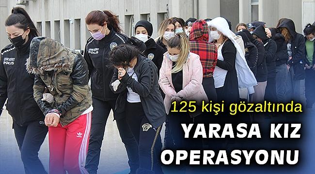 'Yarasa kız' operasyonunda 125 kişi adliyeye sevk edildi