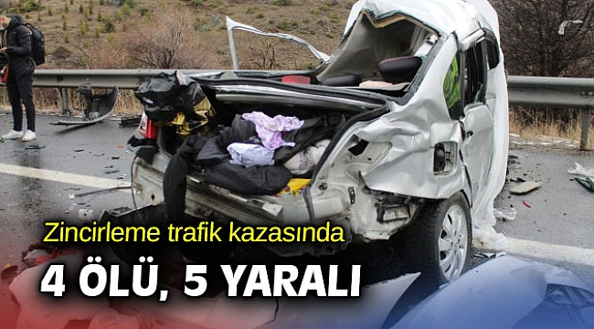 Zincirleme trafik kazası: 4 ölü, 5 yaralı