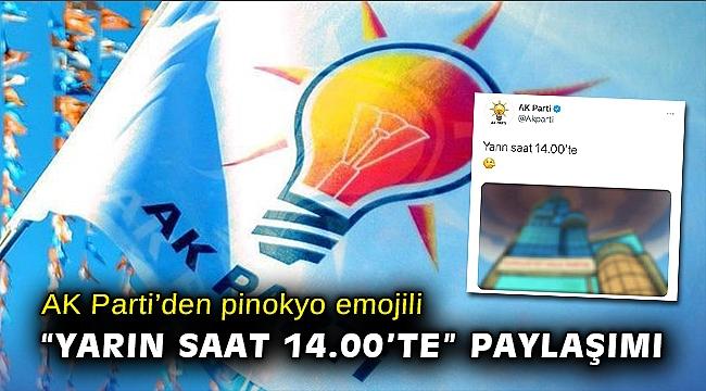 AK Parti'den pinokyo emojili