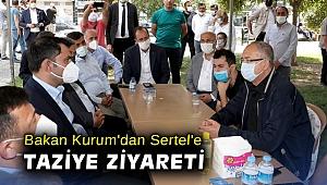 Bakan Kurum'dan Sertel'e taziye ziyareti!