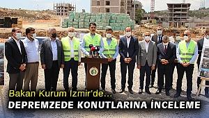Bakan Kurum İzmir'de… Depremzede konutlarına inceleme