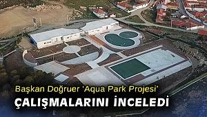Başkan Doğruer 'Aqua Park Projesi' çalışmalarını inceledi