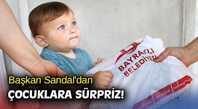 Başkan Sandal'dan çocuklara sürpriz!