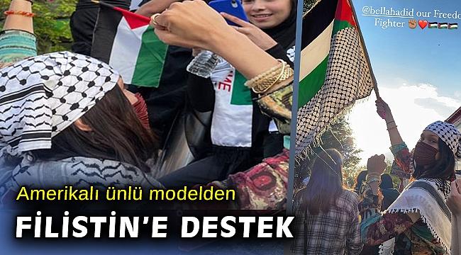Bella Hadid, ABD'deki Filistin'e destek protestosuna katıldı