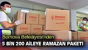 Bornova Belediyesi'nden  5 bin 200 aileye Ramazan Paketi