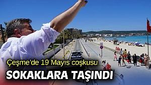Çeşme'de 19 Mayıs coşkusu sokaklara taşındı