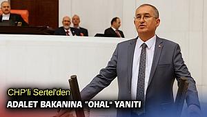 "CHP'li Sertel'den Adalet Bakanına ""OHAL"