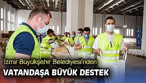 İzmir Büyükşehir Belediyesi'nden vatandaşa büyük destek