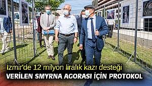 İzmir'de 12 milyon liralık kazı desteği verilen Smyrna Agorası için protokol