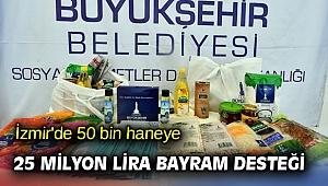 İzmir'de 50 bin haneye 25 milyon lira bayram desteği