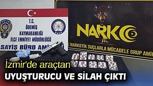 İzmir'de araçtan uyuşturucu ve silah çıktı