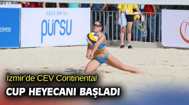 İzmir'de CEV Continental Cup heyecanı başladı