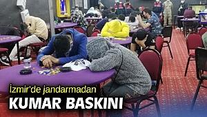 İzmir'de jandarmadan kumar baskını
