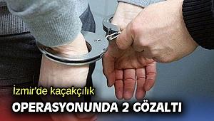 İzmir'de kaçakçılık operasyonunda 2 gözaltı