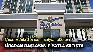 İzmir'deki bir arsa, 4 milyon 500 bin liradan başlayan fiyatla satışta