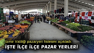İzmir Valiliği pazaryeri listesini açıkladı: İşte ilçe ilçe pazar yerleri