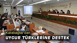 Karabağlar'dan Uygur Türklerine destek