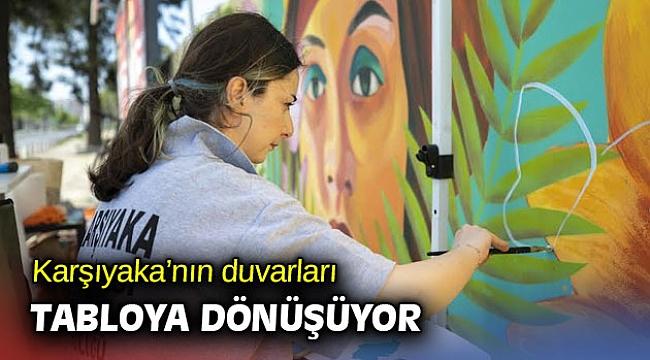 Karşıyaka'nın duvarları tabloya dönüşüyor
