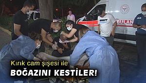 Kırık cam şişesi ile boğazı kesilen yaşlı adama ilk müdahale polislerden