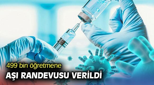 MEB açıkladı! 499 bin öğretmene aşı randevusu verildi