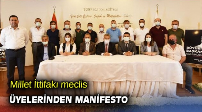 Millet İttifakı meclis üyelerinden manifesto