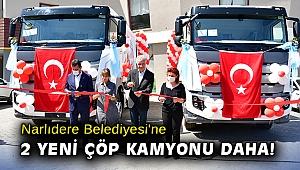 Narlıdere Belediyesi'ne 2 yeni çöp kamyonu daha!