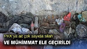 PKK'ya ait çok sayıda silah ve mühimmat ele geçirildi
