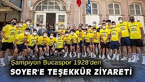 Şampiyon Bucaspor 1928'den Başkan Soyer'e teşekkür ziyareti