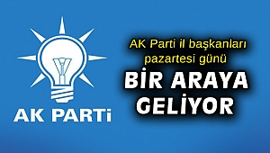 AK Parti il başkanları pazartesi günü bir araya geliyor