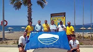 Aliağa Ağapark Plajına 5. kez Mavi Bayrak