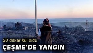 Çeşme Altınkum'da 20 dekar makilik alan yandı