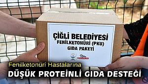Çiğli Belediyesi'nden Fenilketonüri hastalarına düşük proteinli gıda desteği