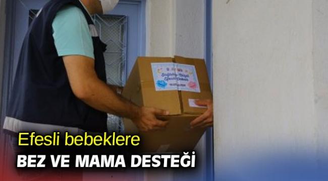 Efesli bebeklere bez ve mama desteği