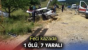 Feci kazada 1 ölü, 7 yaralı