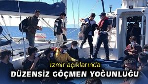 İzmir açıklarında düzensiz göçmen yoğunluğu